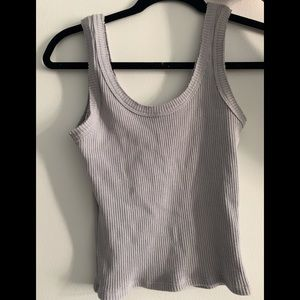 Gray cropped tank top